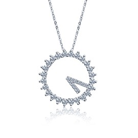MarkChic S925 Sterling Diamond Pendant Necklace for Women