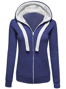 Ericdress Slim Cardigan Zipper Cool Hoodie