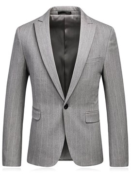 Ericdress Stripe Notched Lapel Slim Pocket Men's Blazer