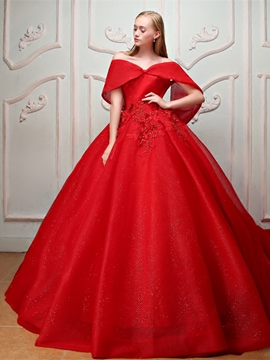 ericdres appliques perlen perlen off-the-schulter ball quinceanera kleid