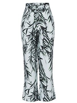 Plant Print Full Length Women's Pants