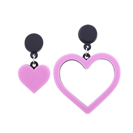Ericdress Romantic Pink Heart Drop Earring for Women