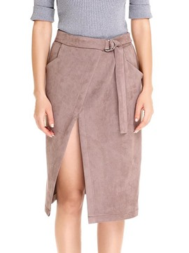 Ericdress Asymmetrical Knee-Length Women's Skirt