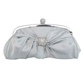 Ericdress Bowknot Rhinestone Adornment Clutch