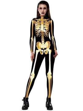 Ericdress Halloween Skull Jumpsuits Pants