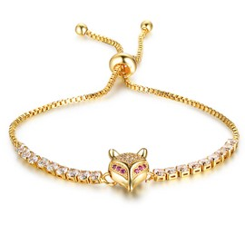 Ericdress Open Fox Diamante Diamante Gold Plating Bracelet