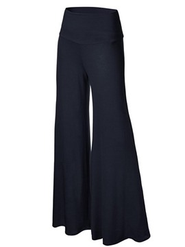 Ericdress Flared High-Waist Elastics Pants