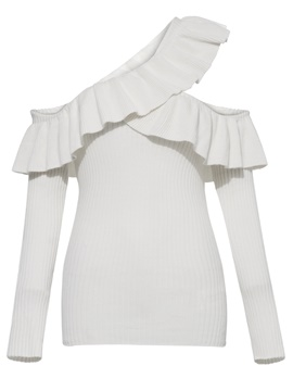 Ericdress Slim Ruffles Hollow Patchwork Knitwear
