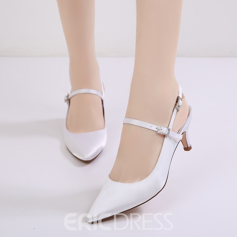 Ericdress Closed Toe Strappy Plain Stiletto Heel Wedding Shoes