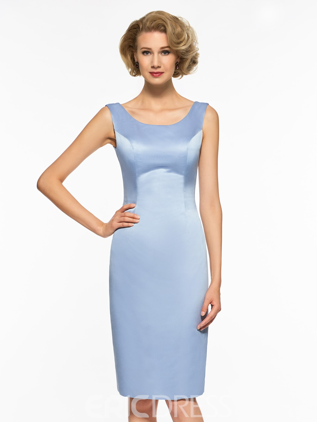 Ericdress Scoop Sheath Knee Length Mother Of The Bride Dress
