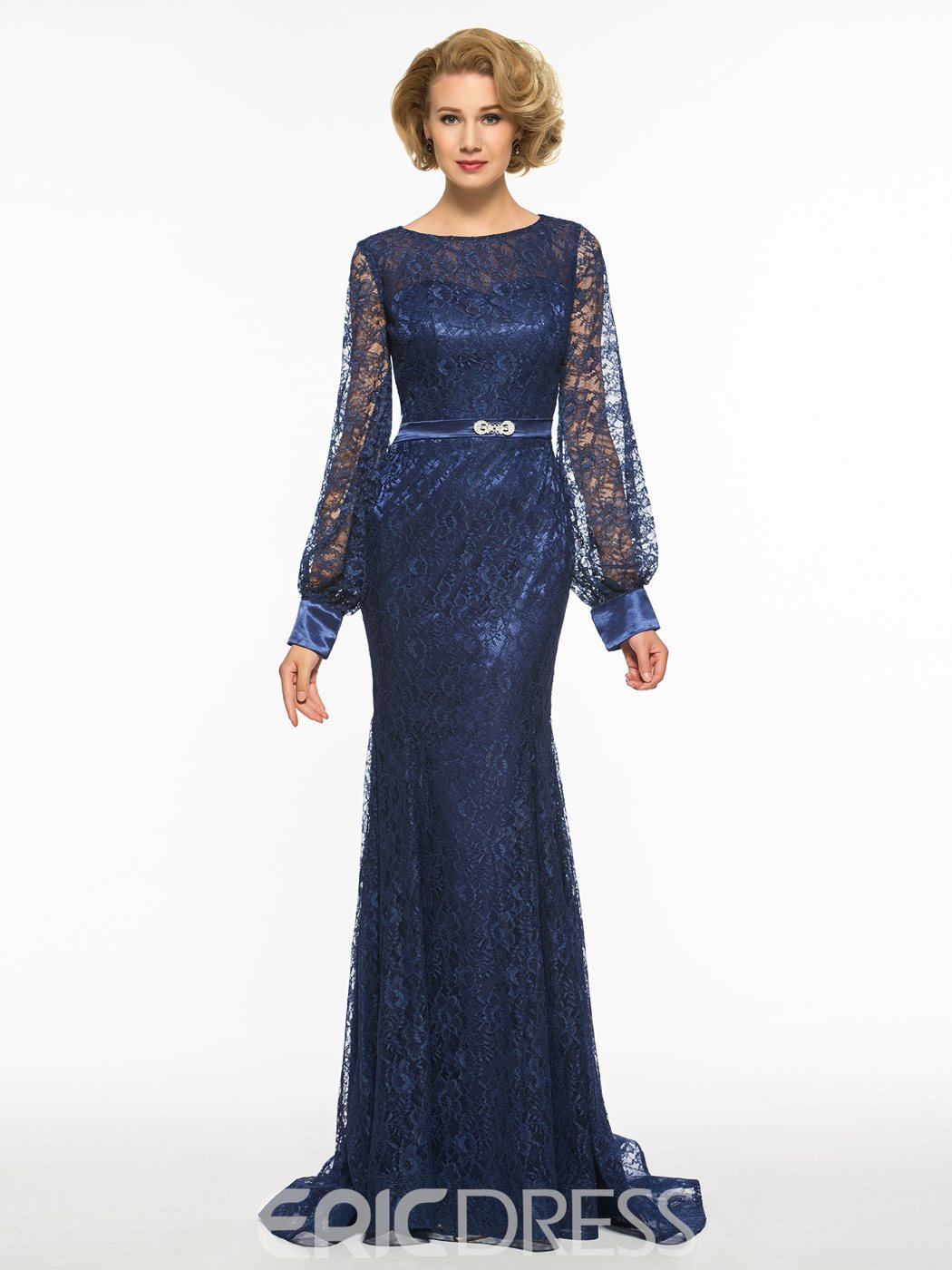 Ericdress Mermaid Long Sleeves Lace Long Mother Of The Bride Dress