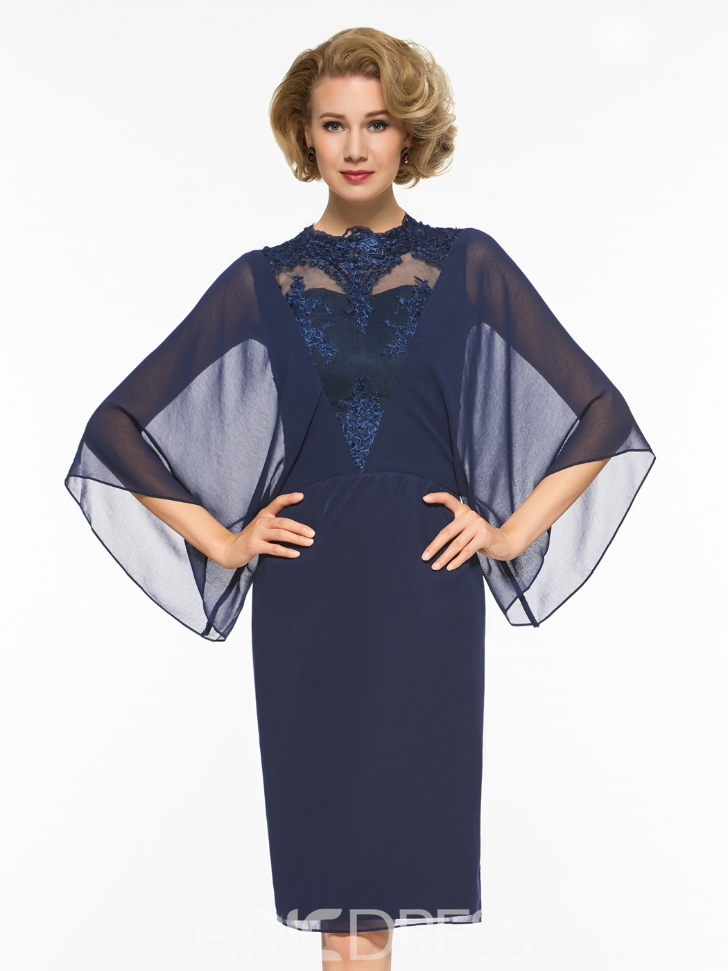 Ericdress Sheath Knee Length Appliques Mother Of The Bride Dress