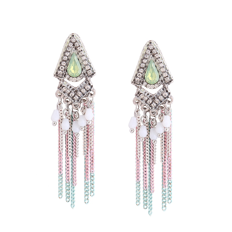 Ericdress Imitation Diamond Tassel Earring for Women