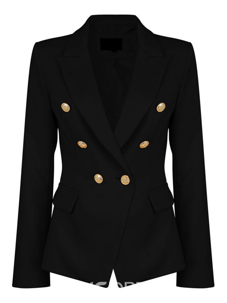 Ericdress Slim Plain Button Blazer