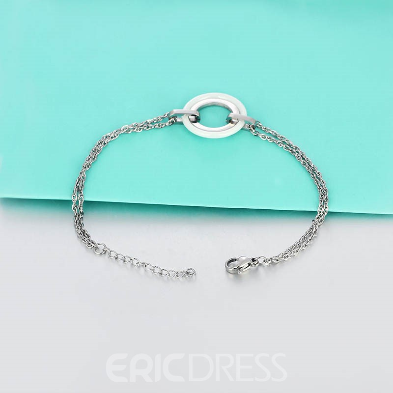 Ericdress Black Porcelain Stainless Steel Luxurious Bracelet
