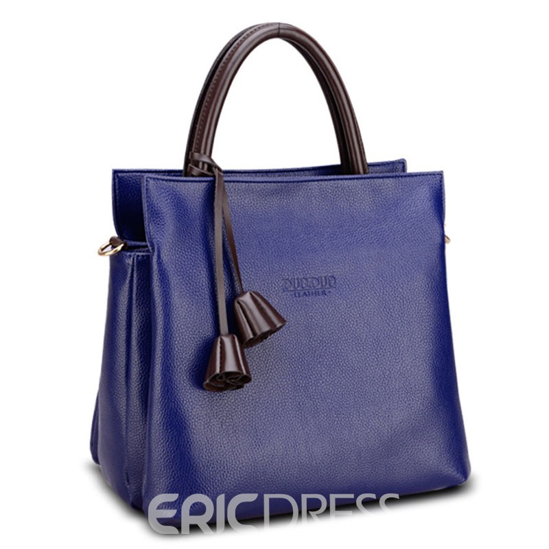 Ericdress Simplicity Solid Color Women Handbag
