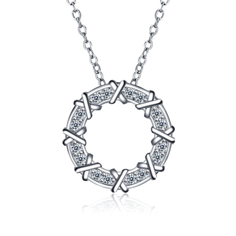 MarkChic S925 Silver X Letter Pendant Necklace