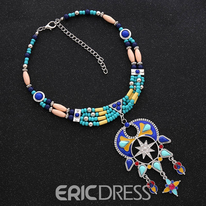 Ericdress National Style Beads Pendant Women's Necklace