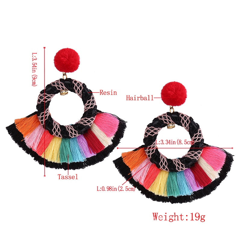 Ericdress Vivid Ball Colorful Rope Earring for Women