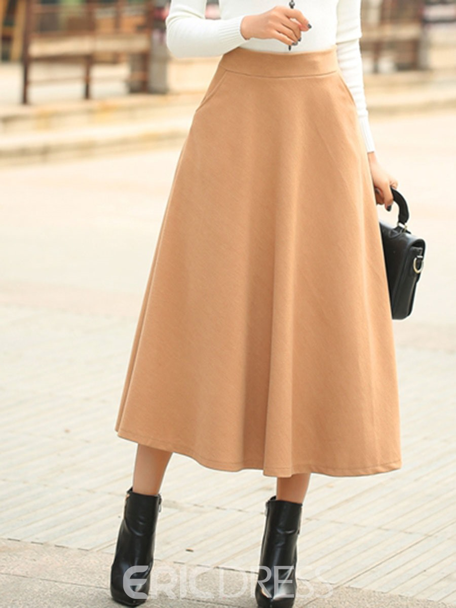 Ericdress Elastics Cotton Ankle-Length Usual Skirts