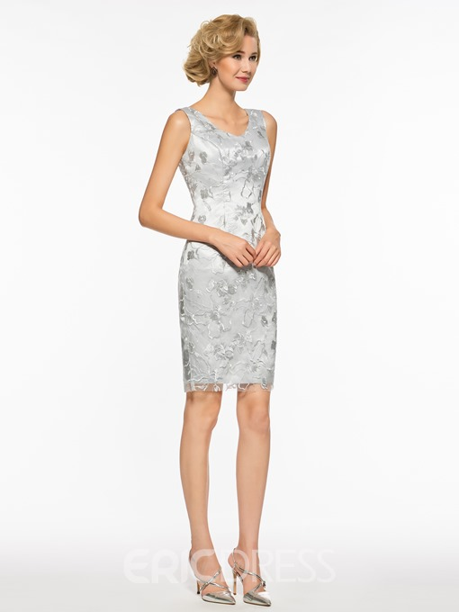 Ericdress V Neck Sheath Lace Short Mother Of The Bride Dress