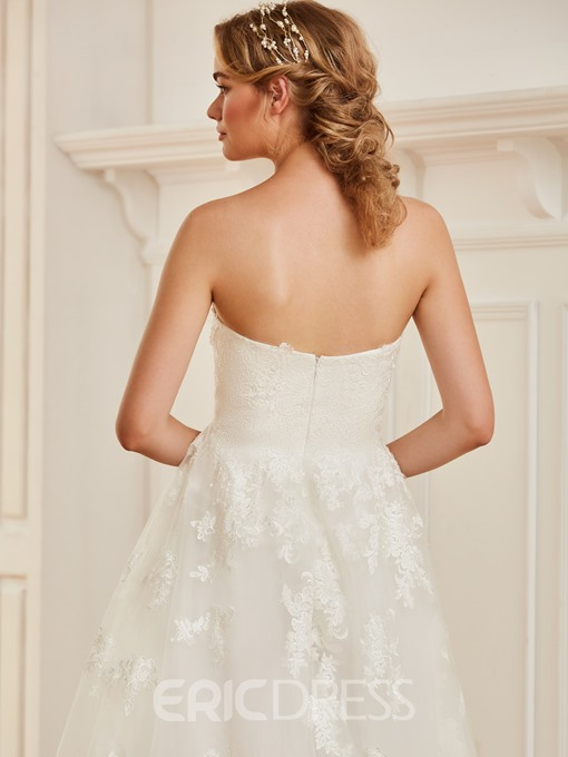 Ericdress Sweetheart A Line Appliques Tulle Wedding Dress