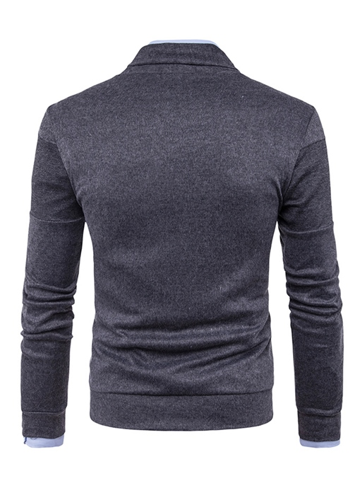 Ericdress Plain Single-Breasted Warm Casual Men's Sweater