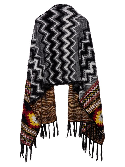 Ericdress Color Block Geometric Pattern Cape