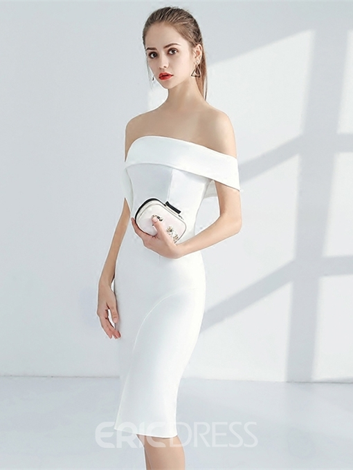 Ericdress Off The Shoulder Bodycon Homecoming Dress