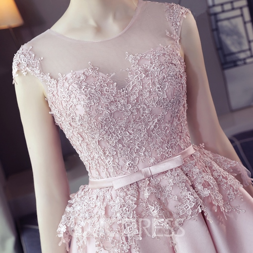Ericdress A-Line Scoop Neck Cap Sleeves Appliques Short Homecoming Dress