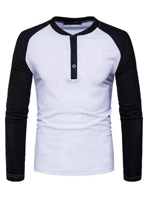 Ericdress Colr Block Slim Men's T-Shirt