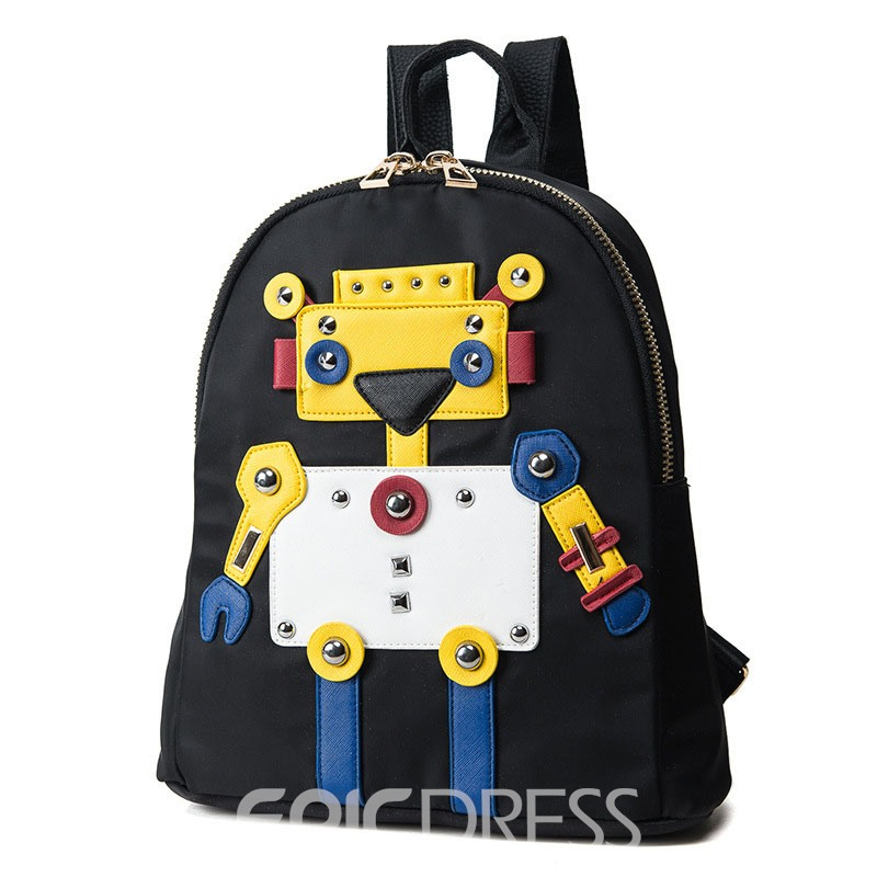 Ericdress Distinctive Cartoon Robot Design Backpack