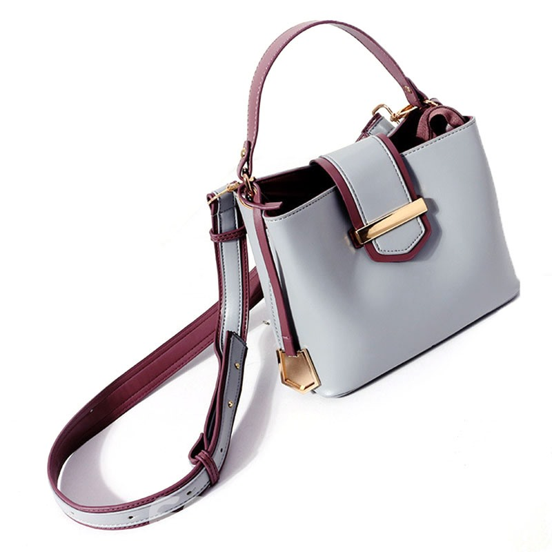 Ericdress Vintage Color Block Zipper Handbag