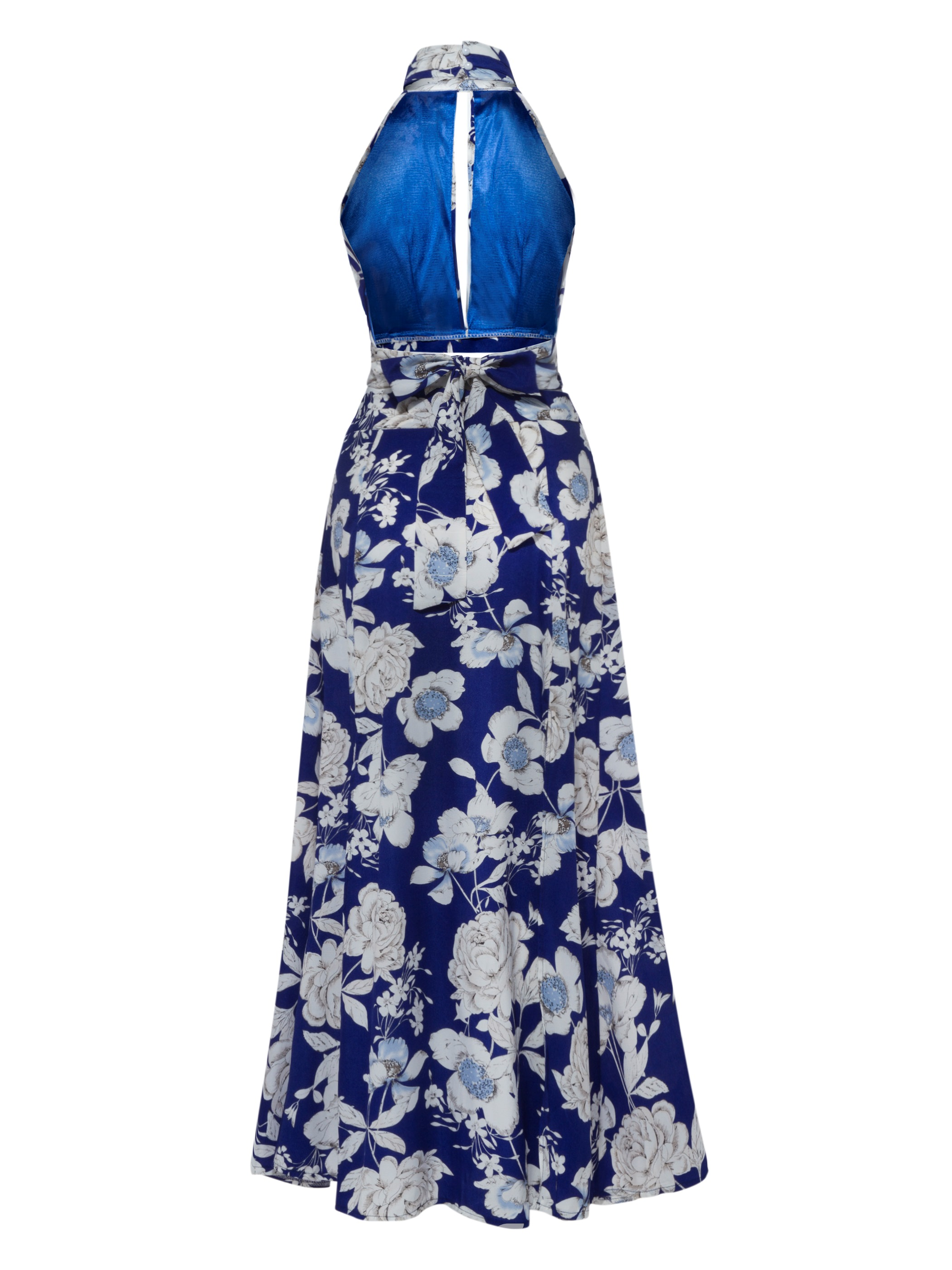 Floral Print Ankle-Length Women's Skirt Suit