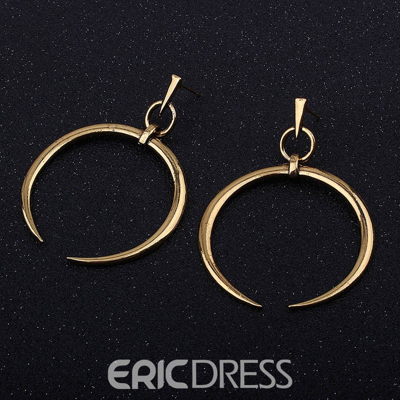 Ericdress Concise Circle Alloy Fashionable Hoops