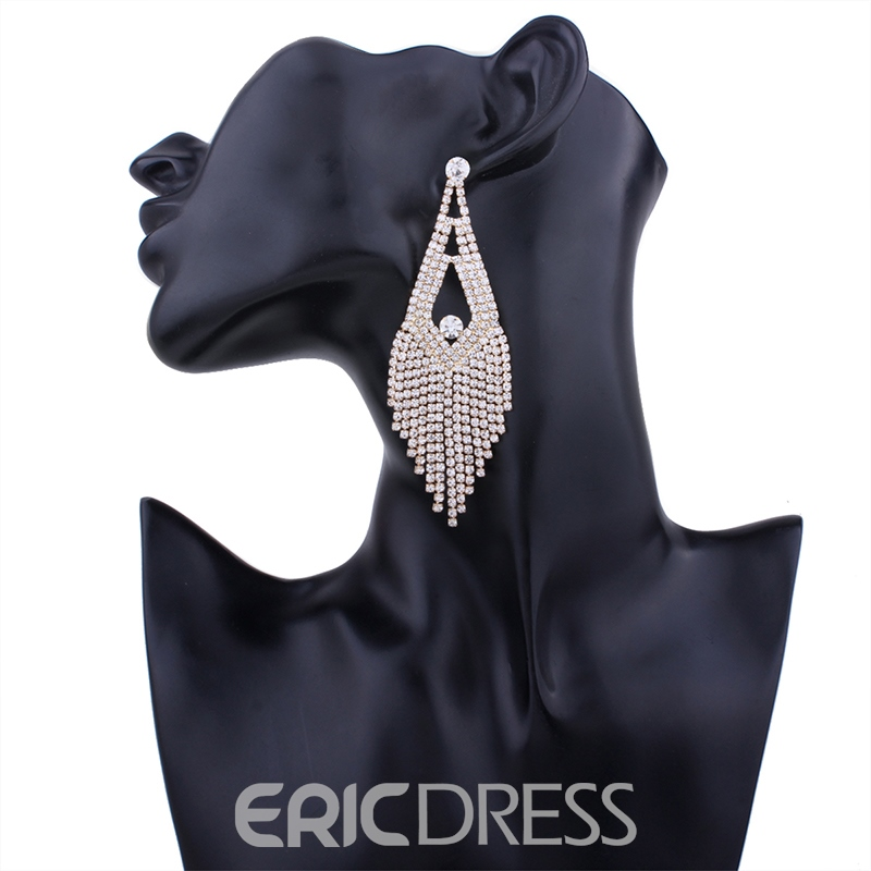 Ericdress Charming Diamante Tassel Women's Earring