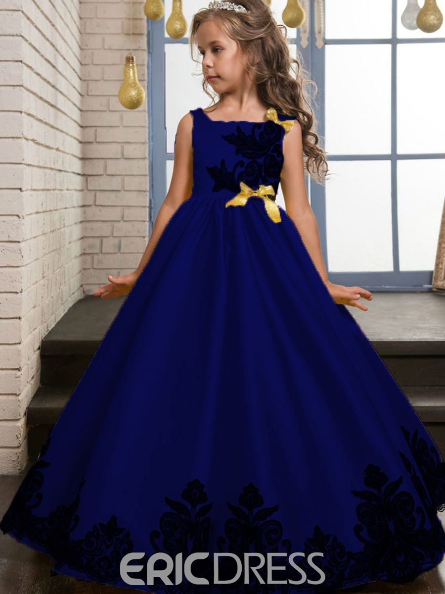 Ericdress Elegant Embroidery Bowknot Girls Princess Dress