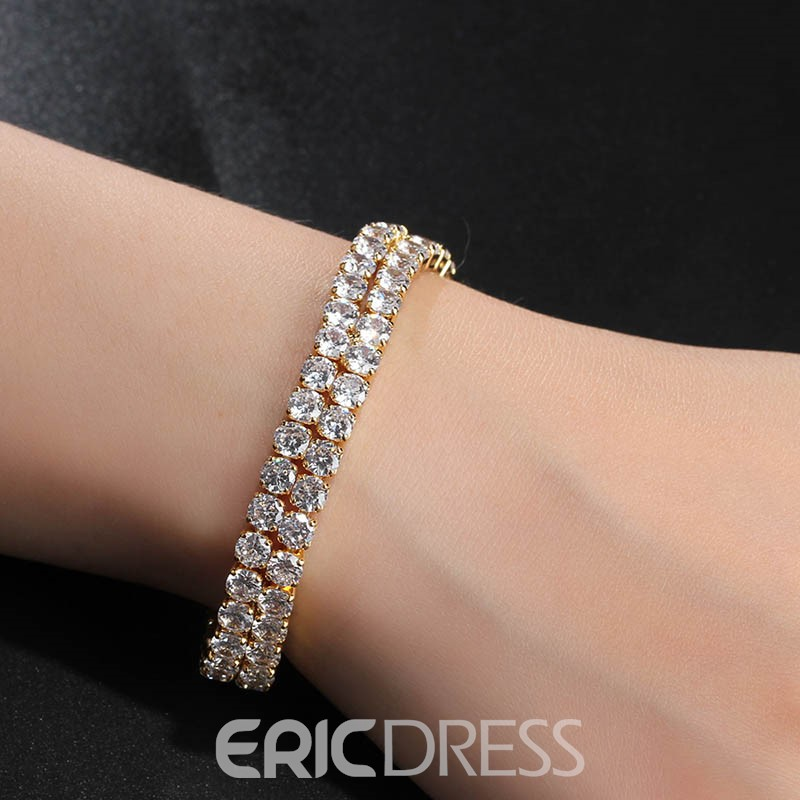 Ericdress Fully-Jewelled Classic Bracelet for Women
