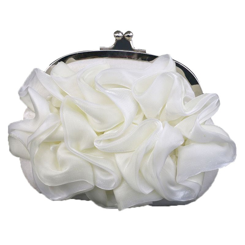 Ericdress Pleated Chiffon Floral Deisgn Evening Clutch