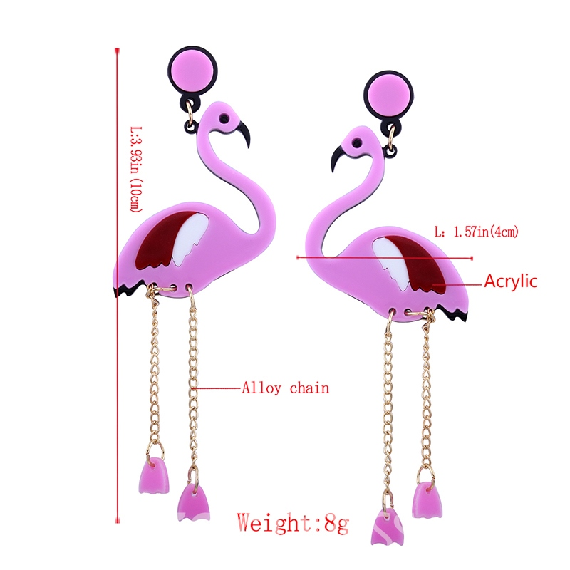 Ericdress Cute Swan Tassel Pink Fashionable Earring
