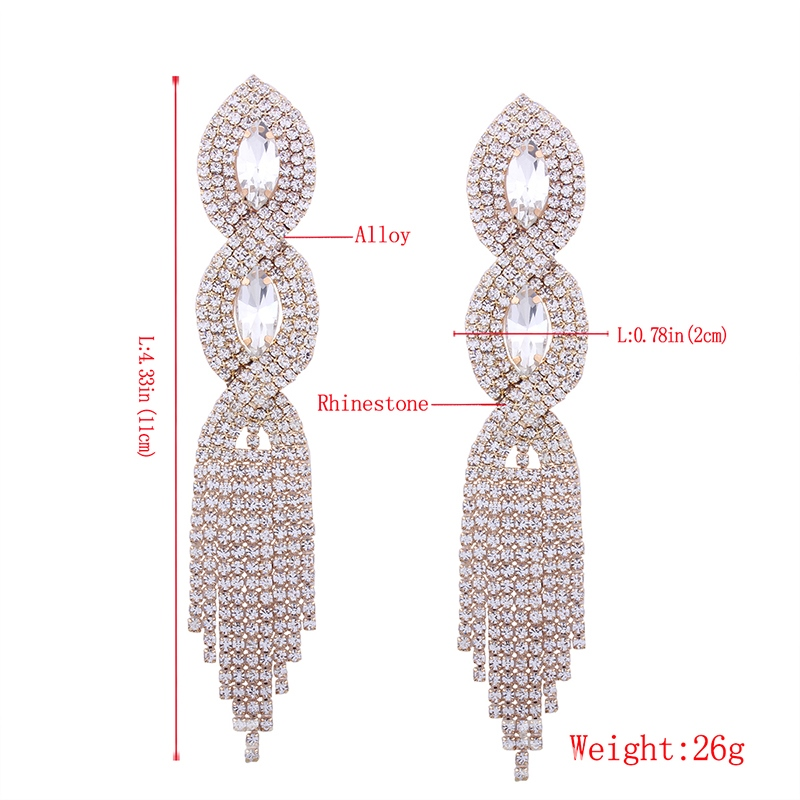 Ericdress High-End Diamante Tassel Drop Earring Party Accessories