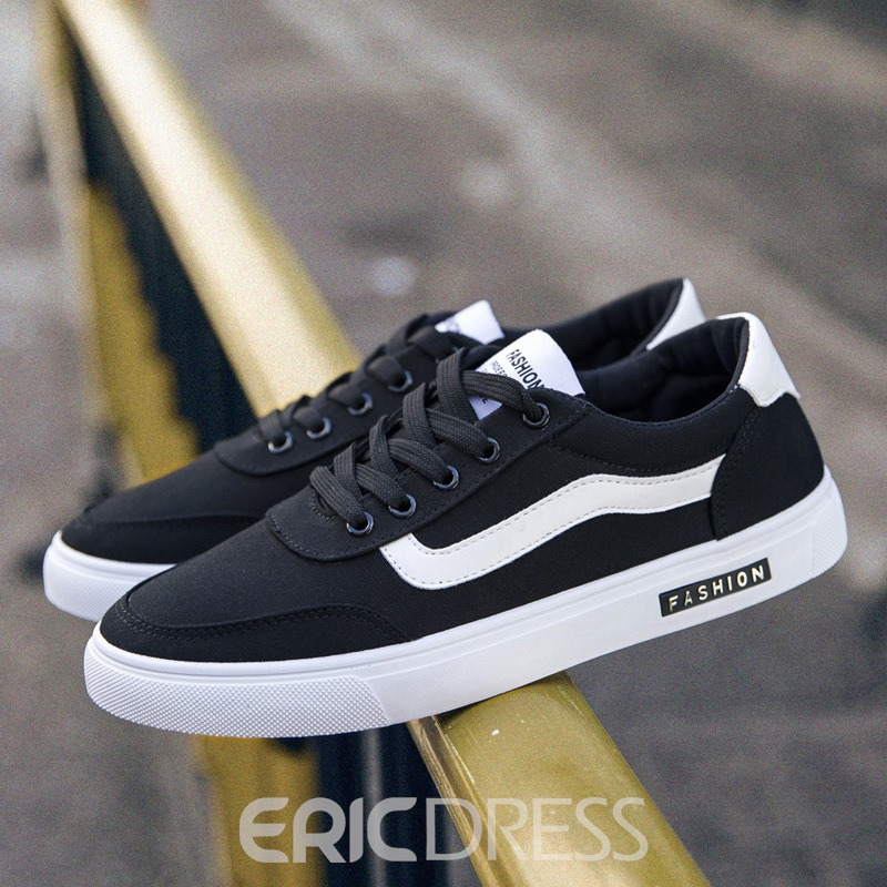 Ericdress Simple All Match Color Block Low-Cut Men's Athletic Shoes