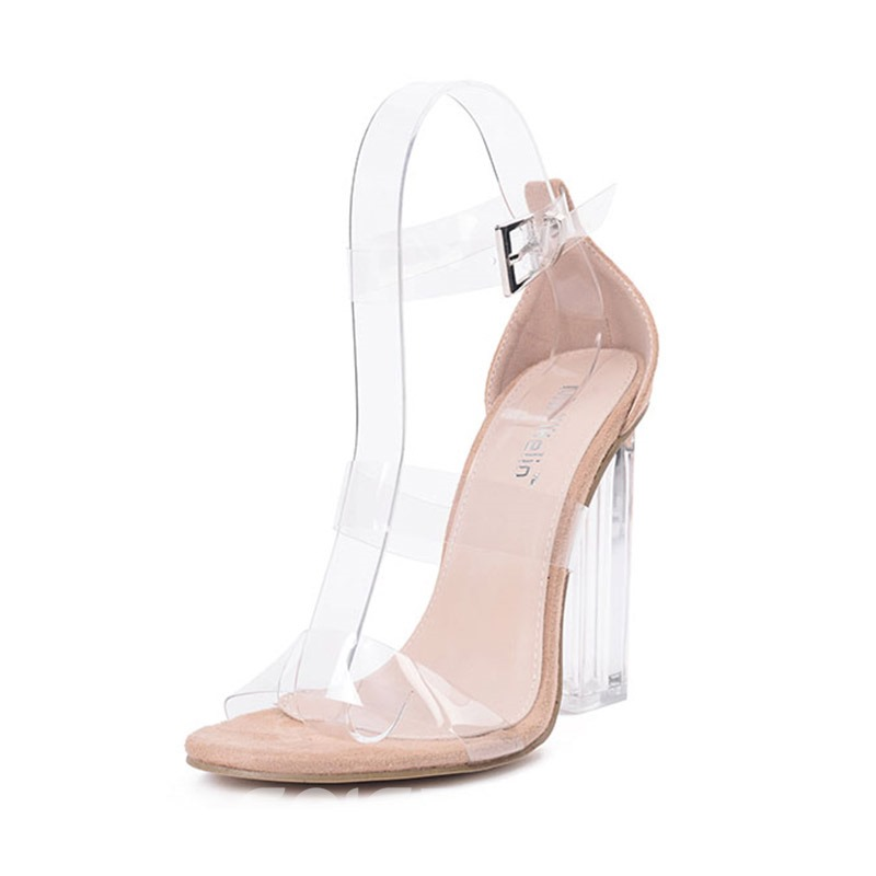 Ericdress Best-Selling Open Toe Patchwork Transparent Shoes