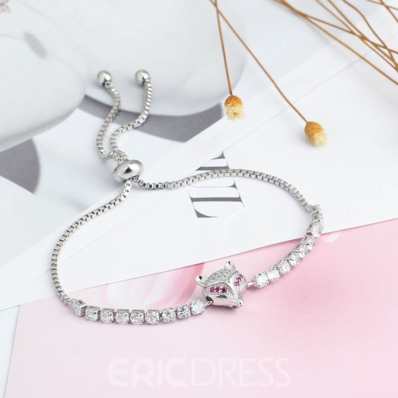 MarkChic All Match Concise Fox S925 Sterling Silver Bracelet
