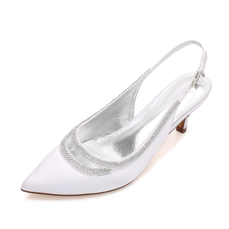 Ericdress Rhinestone Hasp Plain Stiletto Heel Wedding Shoes