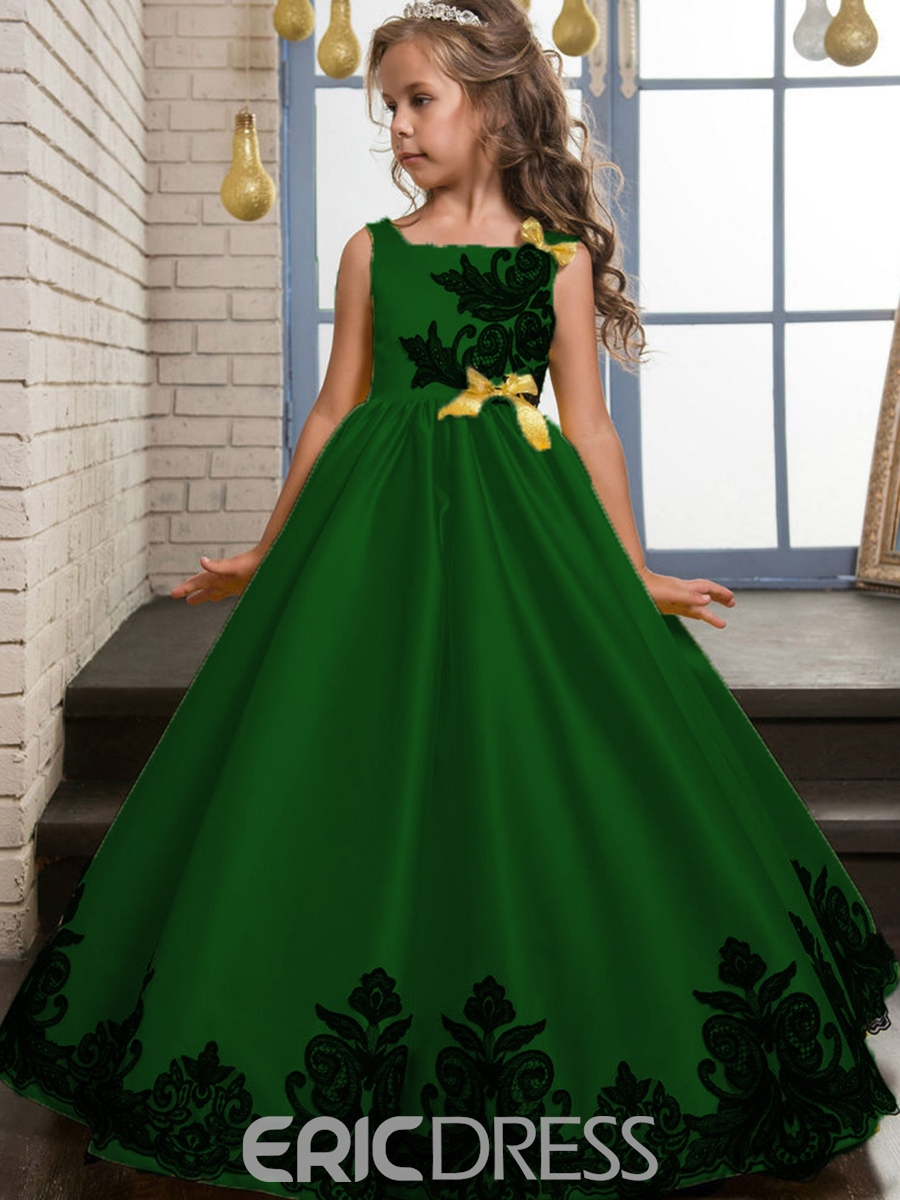 Ericdress Elegant Embroidery Bowknot Girls Princess Dress 12994966 ...