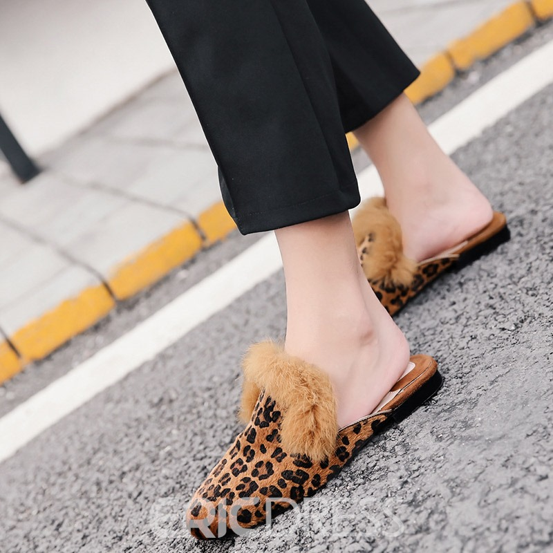 Ericdress Leopard Slip-On Women's Casual Mules Shoes