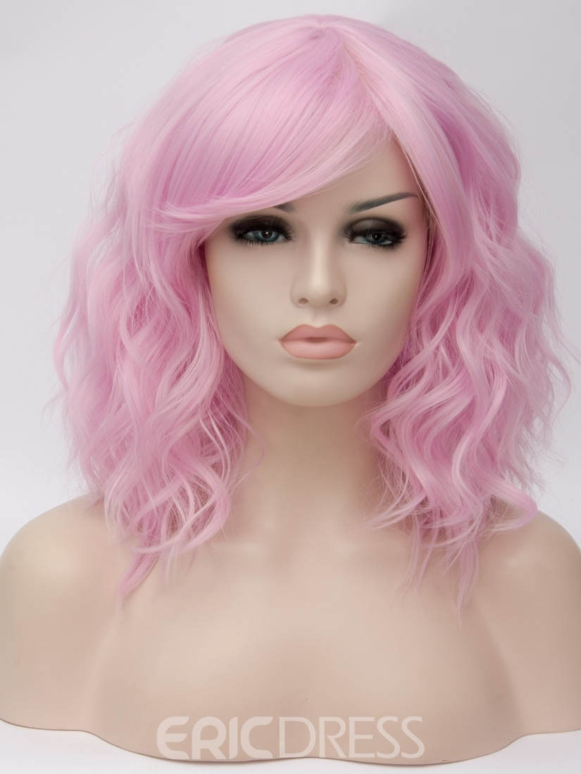 Ericdress Pink Medium Loose Wavy Capless Synthetic Wig 14 Inches