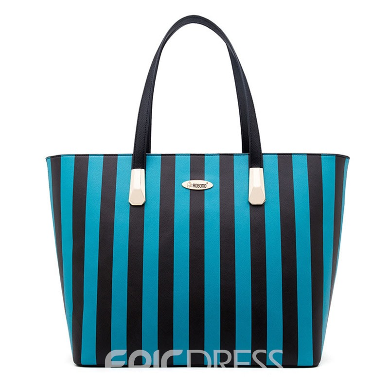 Ericdress Well-Match Stripe Design Crossbody Bag