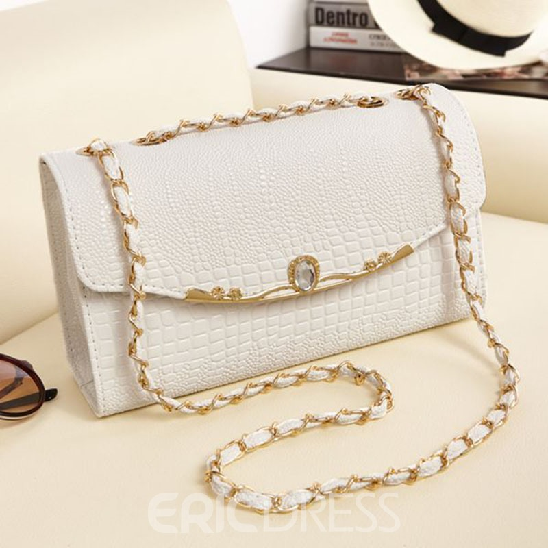 Ericdress Korean Style Crocodile Print Crossbody Bag